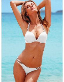 Купальник Victoria's Secret Hot sexy classic strips white